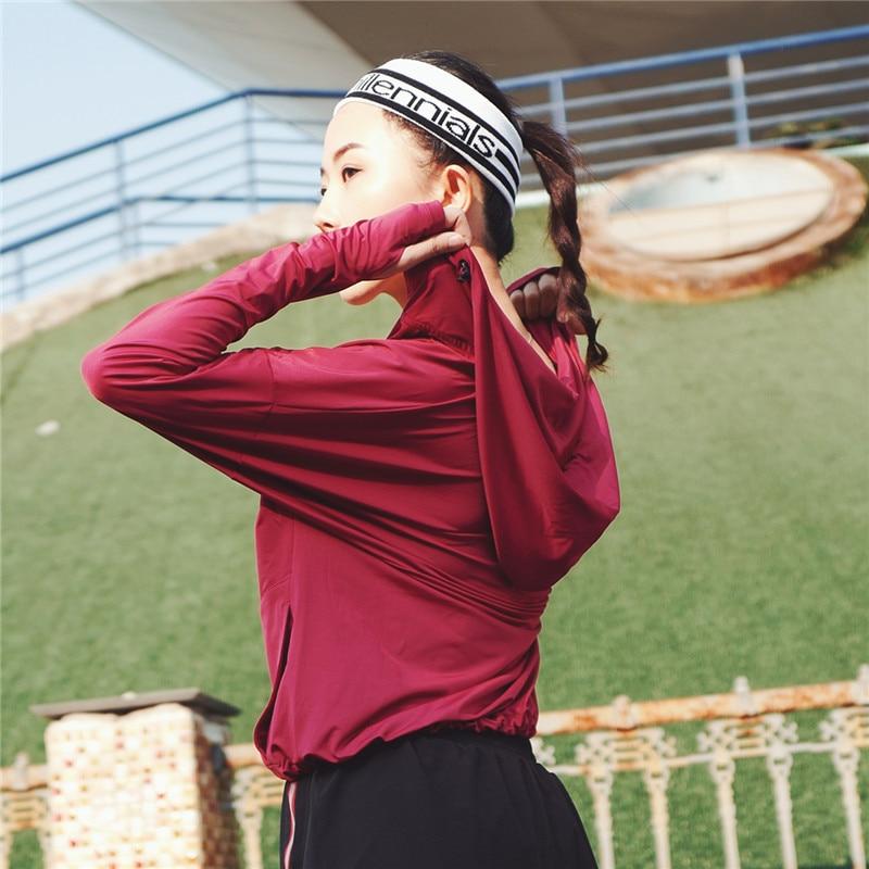NWT 女性ストレッチパーカーヨガパーカースポーツジム · フィットネスアスレチックランニング Trainning とフードサイズ XS XL  グループ上の スポーツ & エンターテイメント からの トレーニング & エクササイズ スウェット の中 1