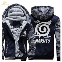 Japan Anime Naruto Uzumaki Cartoon Hoodies For Adult 2019 Winter Fleece High Quality Sweatshirts Men Brand Thick Jackets