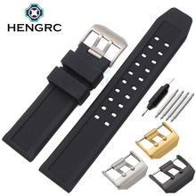 Watchbands Men Black 23mm Sport Diving