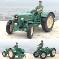 High Simulation Engineering Vehicles Farmer Cars 1 32 Scale Alloy MAN Tractor With Dolls High Quality
