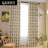 QanHu European Window Curtains Top Quality Customize Wholesale For The Living Room Curtain