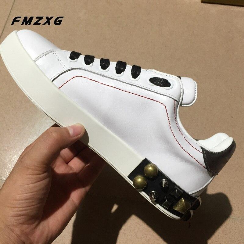 Marque Luxe Designers Floral Sneakers Plat Imprimé Cuir Rivet Femme Femmes Semelles Qualité Mode Pour Compensées À Chaussures De Véritable En qOn6B6