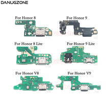 USB Charging Port Dock Plug Jack Connector Charge Board Flex Cable With Microphone For Huawei Honor 8 Lite V8 9 Lite V9