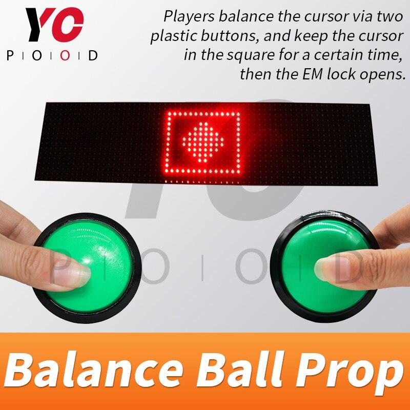 YOPOOD balle d'équilibre prop échapper salle takagisme jeu équilibre la balle pour contrôler le curseur dans la vraie vie carrée fournisseur chambre