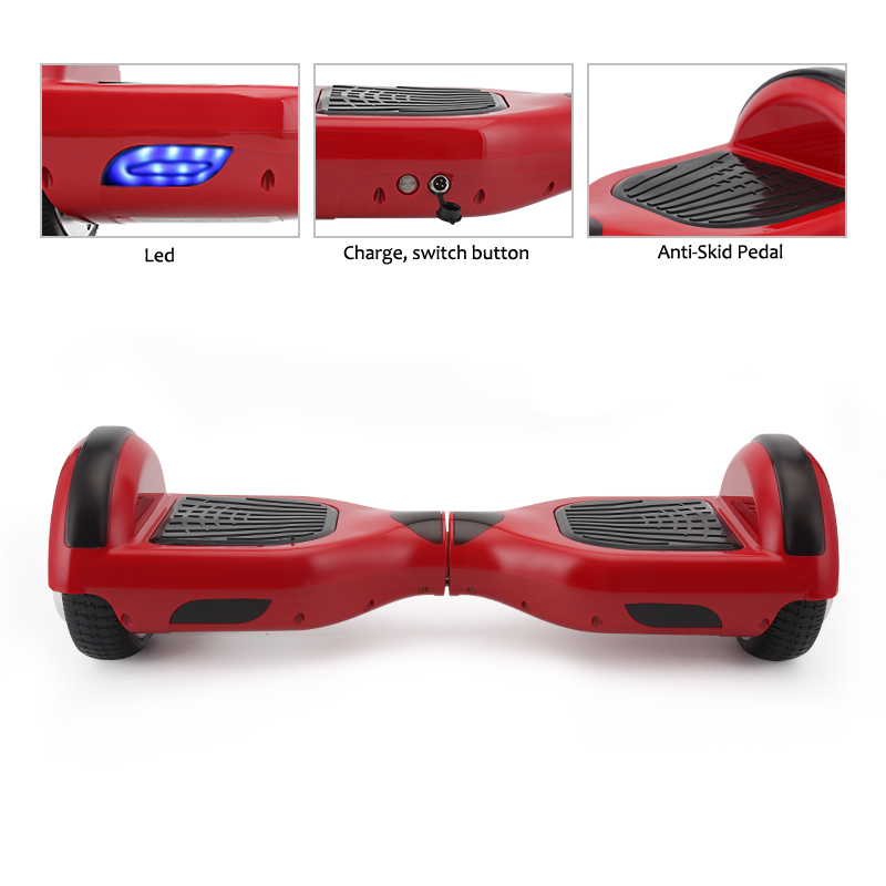 4 Colors Self Balancing Hoverboard or Two Wheels Skateboard with LED Light 1