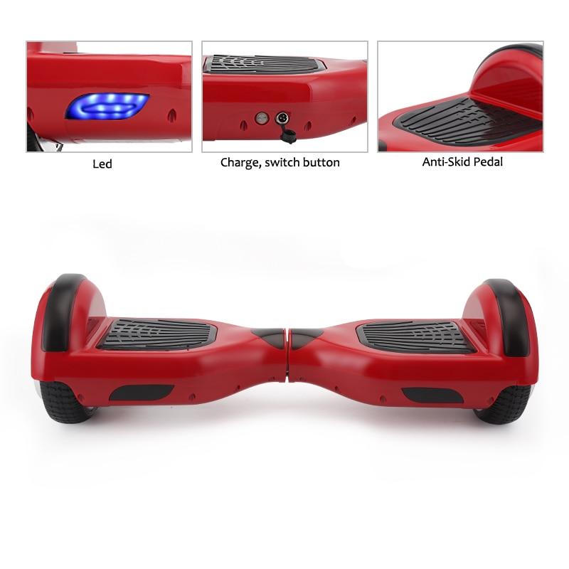4 colores Hoverboard auto equilibrio eléctrico Hoverboard monociclo por la borda Gyroscooter Oxboard Skateboard dos ruedas Hoverboard - 2