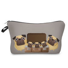 Women Toiletry  3D Printed Pug Bag