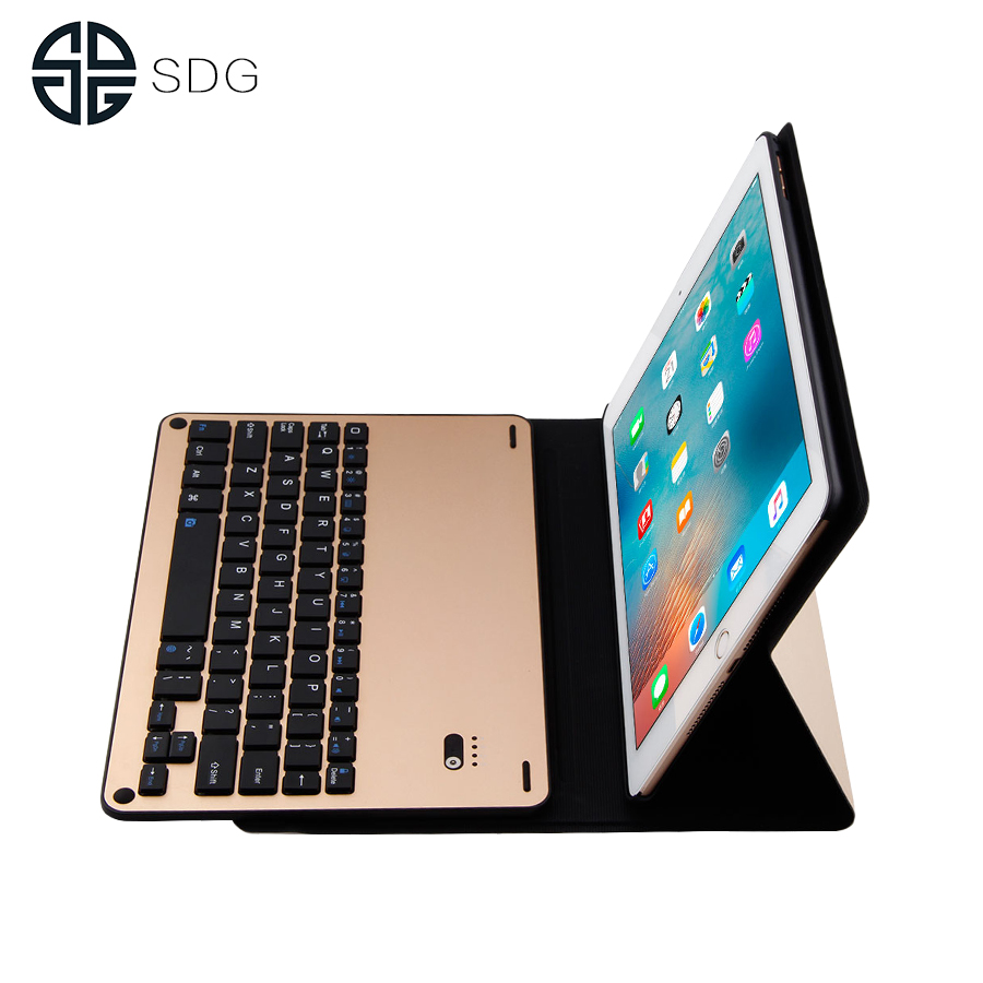 SDG Ultra Slim Bluetooth Keyboard For New iPad 9.7 2017 2018 Stand Leather Case Cover For iPad Air/Air 2 tablet Keypad klavye bluetooth keyboard stand leather tablet case folding stand leather cover for apple ipad air tablets protective sleeve pen