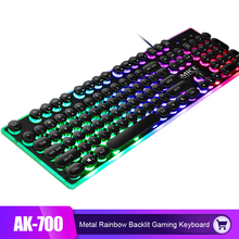 iMice Cool Gaming Keyboard Rainbow Backlit 104 Key Steam Punk Keyboards Waterproof USB Wired Mechanical Feeling Gamer Keyboard ydl g 1 usb 2 0 wired 114 key backlit gaming keyboard black