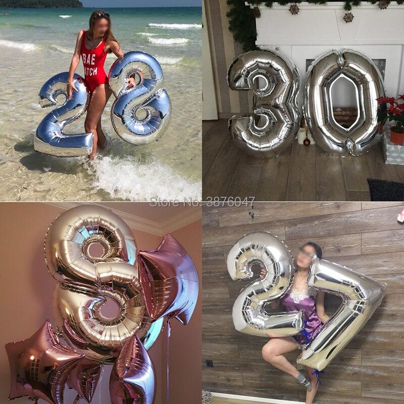 """65th Gigante Fiesta de Cumpleaños 40/"""" Globo De Aluminio Helio decoración de aire edad 65 Rosa"""