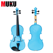 Beautiful Sky Blue Violin High quality China Acoustic Violin 1/4 3/4 4/4 1/2 1/8 size send with bag