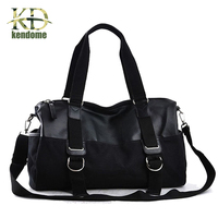 Top Quality Brand Oil Wax Leather Handbags For Men Large Capacity Gym Shoulder Bags Men S