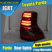 2 шт. автомобильный Стайлинг для Toyota prado задние фонари 2010 2016 для prado светодиодный задний фонарь + сигнал поворота + тормоз + обратный светодиод