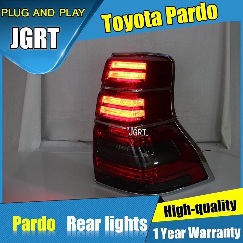 2PCS Car Styling for Toyota prado Taillights 2010-2016 for prado LED Tail Lamp+Turn Signal+Brake+Reverse LED light радиатор стальной prado universal 22х500х900
