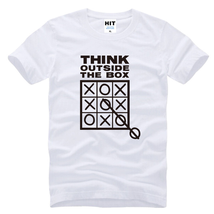 Think Outside The Box Grappige Coole Creatieve Heren Heren T-shirt - Herenkleding - Foto 2