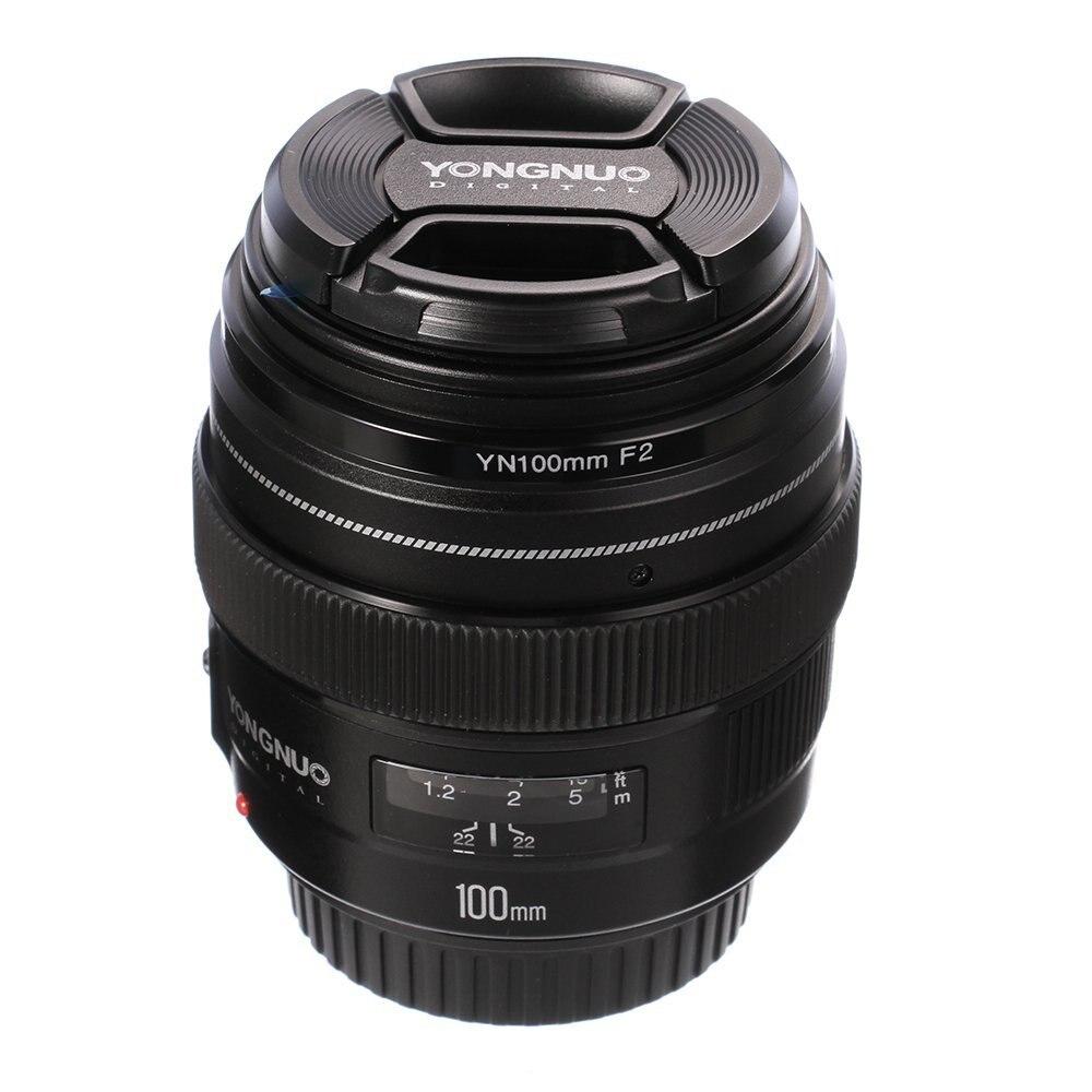 YONGNUO 100 MM YN100mm F2 grand objectif téléobjectif moyen à grande ouverture pour Canon EF Mount 5D 5D IV 1300D T6 760D 1300d 6d 600d 80d