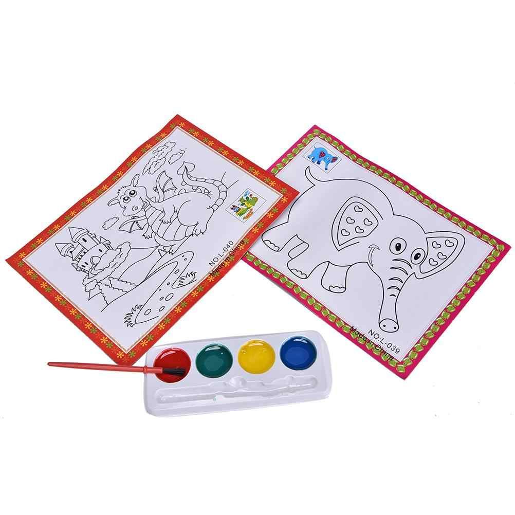 4 kleuren DIY Aquarel Leren Schilderen Set voor Baby 'S Kinderen Tekening Speelgoed Kinderen Educatief Speelgoed