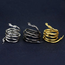 The Mortal Instruments City of Bones Isabelle Serpent Snake Bracelet Curved Chunky Stretch Cuff Bangle Retro 5CV6