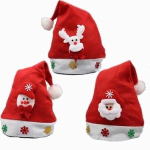 Image 2 - Christmas Ornaments Decoration Christmas Hats Santa Hats Children Women Men Boys Girls Cap For Christmas Party Props S5010
