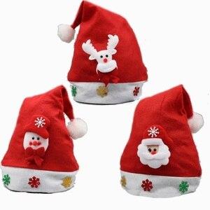 Image 2 - Weihnachten Ornamente Dekoration Weihnachten Hüte Santa Hüte Kinder Frauen Männer Jungen Mädchen Kappe Für Weihnachten Party Requisiten S5010
