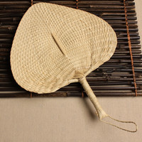 Chinese Hand Fan Straw Wedding Souvenirs Home Decoration Crafts Vintage Poetry
