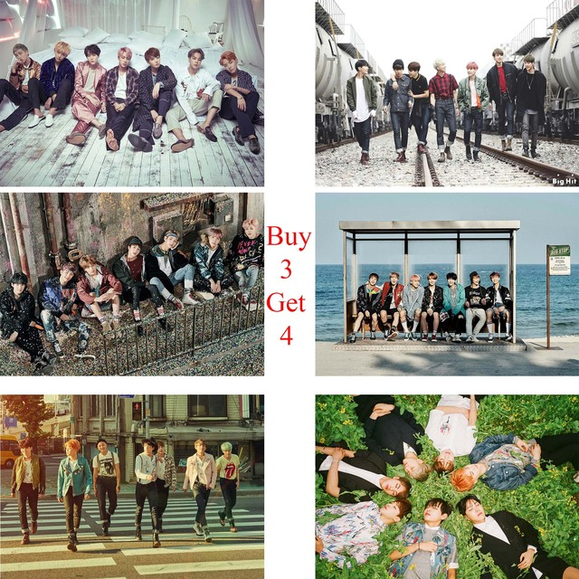 K-Pop BTS Posters Clear Image Wall Prints Home Decoration Home Art