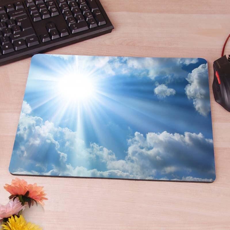 MaiYaCa The Bright Sun,Blue Sky,Clouds Mousepads Optical Computer Mouse Mat Mice Pads Gaming Speed Mats