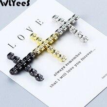 лучшая цена WLYeeS 2pcs CZ Skull Cross Pendant Charm Copper bead white zircon Metal Spacer Loose bead supply For Jewelry bracelet making DIY