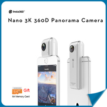 Insta360 Nano 360 Degree Panoramic Camera 3K HD VR Camera 210 Degree Dual Wide Angle Fisheye Lens 360 Camera With VR Case +Gifts