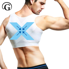 074dfa5bc6ed6 PRAYGER Men Gynecomastia Control Shaper Slimming Chest Support Back Tops  Hook Hold Stomach Girdles Firm Undergarments