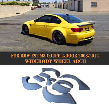 3Series E92 M3 Car-Styling PU Auto Side Mudguards Flare Fender Wheel Arch For BMW E92 M3 bumper Only 2008-2012 jc 20130709 1