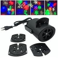 Mini Projector Laser Lamp Led Club Multicolor Snow Disco Bulb Party Light Four Colors Christmas Light