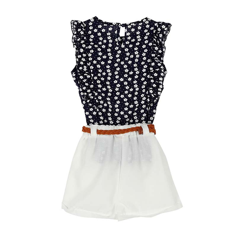 Summer-Toddler-Kids-Baby-Girls-Clothes-Sets-Floral-Chiffon-Polka-Dot-Sleeveless-T-shirt-TopsShorts-Outfits-L16-2
