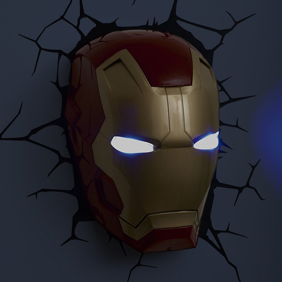 Guxen 3d marvel iron man hand head creative sticker super hero guxen 3d marvel iron man hand head creative sticker super hero wall lamp light decoration luminaires for childrens night lamp in led night lights from aloadofball Images