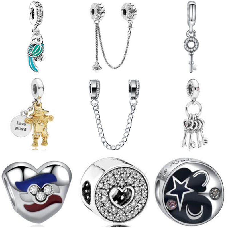 Jewelry & Accessories Beads & Jewelry Making Btuamb Punk Style Carved Flower Handbag Firework Mickey & Minnie Cartoon Charm Beads Fit Pandora Original Bracelets Diy Jewelry