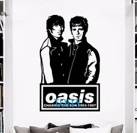 Banda de Rock inglês Liam E Noel Gallagher Oasis Decalque Da Parede Vinil Adesivo Música Poster Mural Quarto H93cm x W58cm
