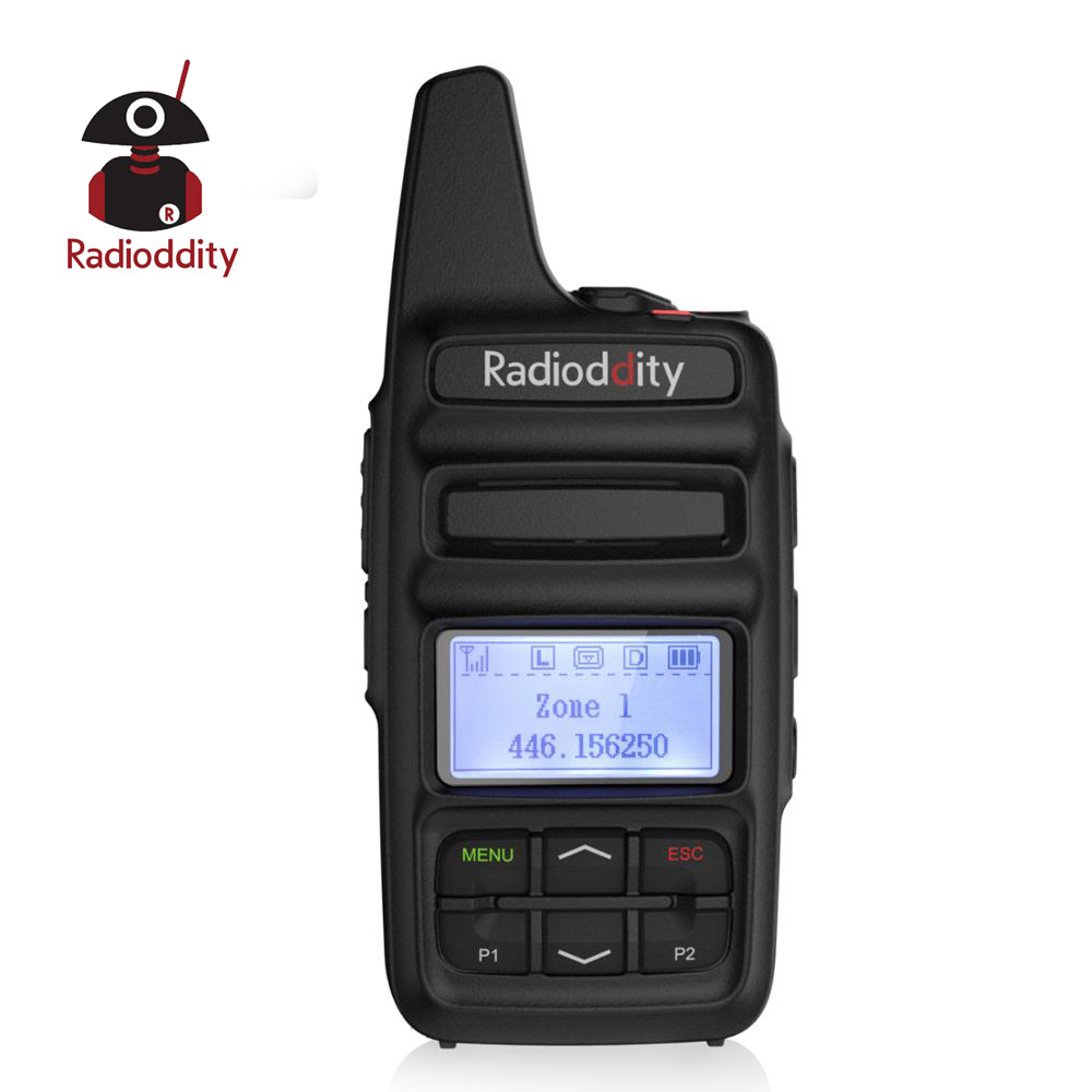 Radioddity GD-73 A/E UHF/PMR Mini <font><b>DMR</b></font> SMS <font><b>Hotspot</b></font> Use Custom Key IP54 USB Program & Charge 2600mAh 2W 0.5W Two Way Pocket Radio image