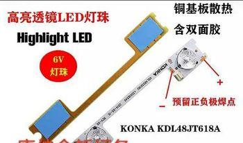 10 Pieces/lot original new LED strip for KONKA KDL48JT618A 35018539 6 LEDS(6V) 442mm