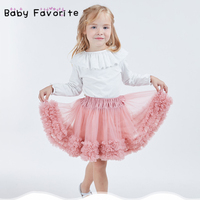 Kids Girl Tutu Skirts Fashion Children Soft Tulle Pettiskirt Toddler Pink Tutu Dance Skirt Party Performance