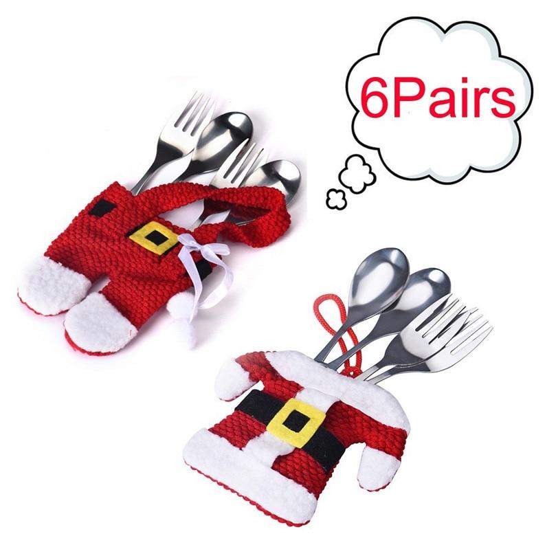Aliexpress.com : Buy 6Pair Christmas Decorations Santa