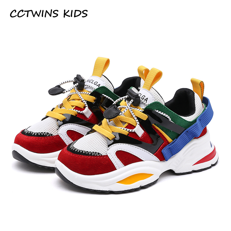 CCTWINS Kids Shoes 2019 Boys White Shoes Girls Causal Leather Sneakers Children Breathable Shoes Toddler Sports Sneakers SS2737