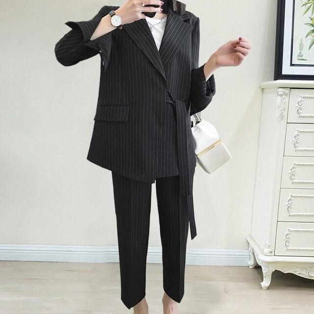 Women Professional temperament fashion warm suit elastic waist pant comfortable pant suits 8