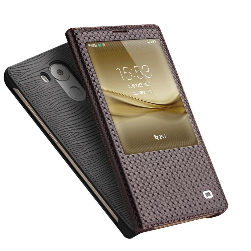 QIALINO Huawei Ascend Mate 8 Väska Mode Mönster Äkta läderfodral - Reservdelar och tillbehör för mobiltelefoner - Foto 2