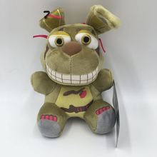 цены 18cm Green Rabbit Five Nights At Freddy's FNAF Freddy Fazbear Bear Foxy Plush Doll Fnaf Stuffed & Plush Animals Toys For Kids