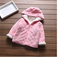 Children's clothes girls with velvet of new fund of 2016 autumn winters hooded Cotton jacket with thick warm baby leisure coat