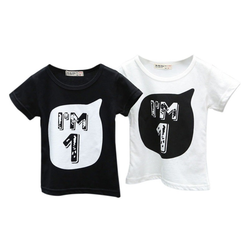T-Shirt Children Print Baby-Boys-Girls Kids Cotton Fashion Summer Letter Cool 0-6Y Boy's