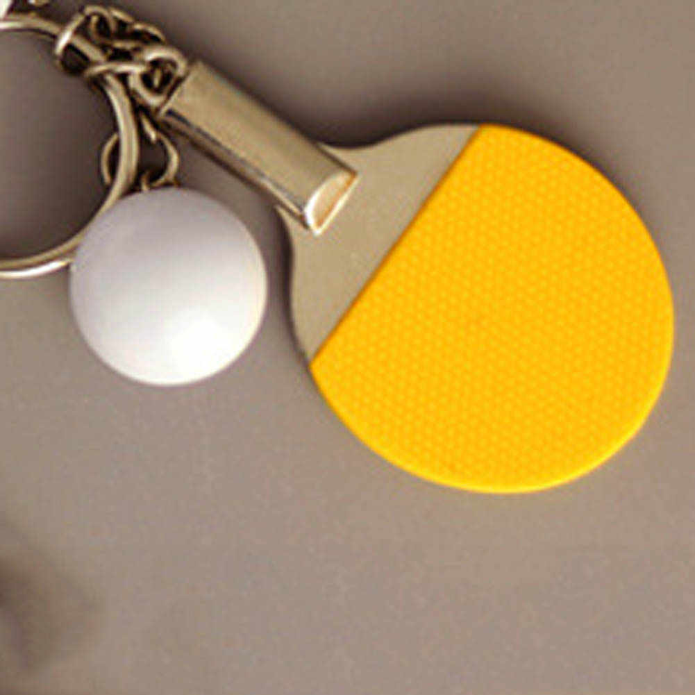 04ea385d9 Ping-pong Table Tennis Model Keychain Couple Pendant Key Chain Gift for  Lovers Young Girl