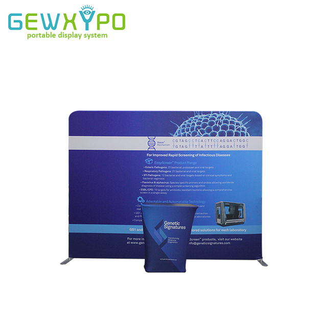 Expo Stand Backdrop : Expo booth 10ft pillow case style straight fabric backdrop stand