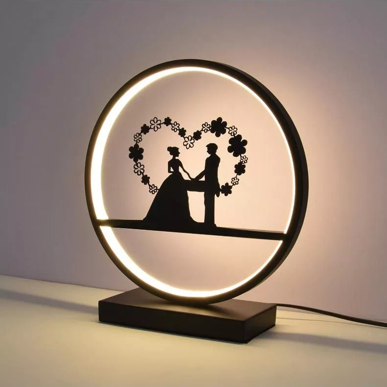 Wedding table lamp protect eye desk light bedroom creative personality art beautiful cartoon Princess children room bedside lamp стоимость