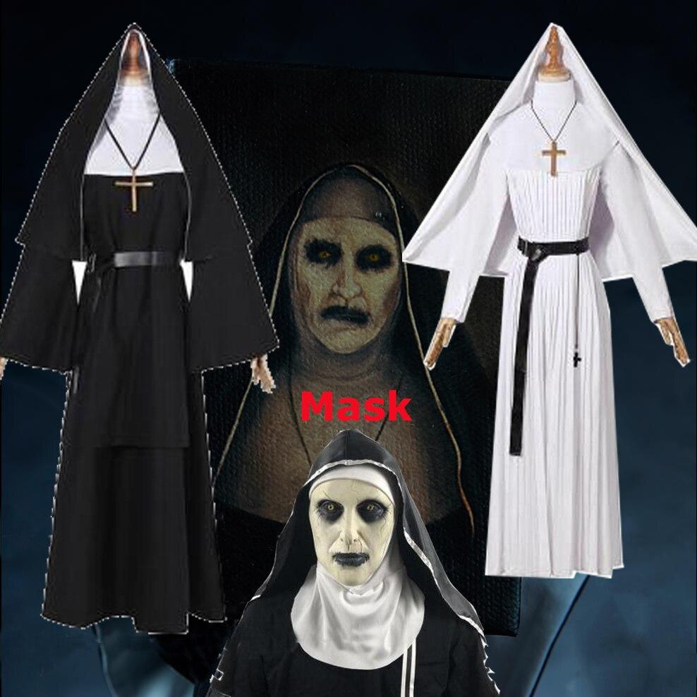 Sorrow 2 nunsThe Nun Cosplay Sister Irene Black White Long